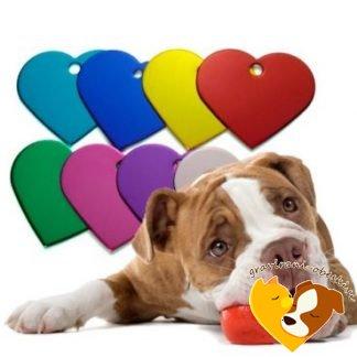 Graviran obesek za kužka - Srce