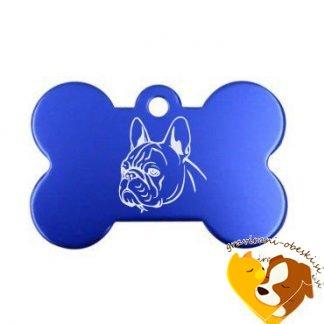 Buldog (Angleški buldog) - Graviran obesek za psa KOST