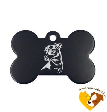 Kovinski obesek za psa - Ameriški goli terier
